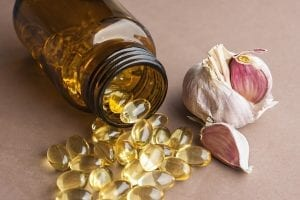 Garlic oil capsules, vitamins d pills