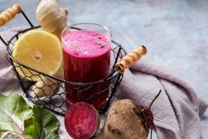 Healthy beetroot detox drink
