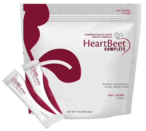 One Bag of HeartBeet Complete® | with two stick outside the pack